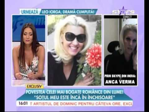 Anca Verma Interview with Antena TV newschannel Romania on 22.07.2016