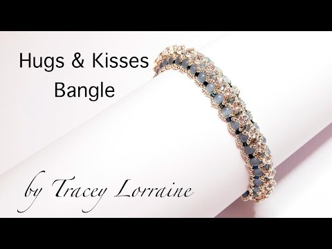 Beadwork bangle tutorial - Hugs and Kisses - by CrystalStarGems
