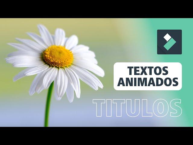 Crear TEXTO y TITULOS Animados en FILMORA 🤩 | Curso Filmora