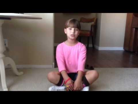 Kid singing Royals by Lorde