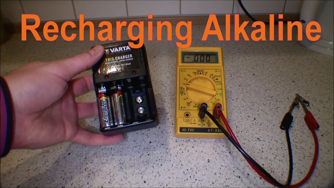 charging alkaline non rechargeable batteries 124 youtube. Black Bedroom Furniture Sets. Home Design Ideas
