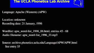 Western Apache audio: apw_word-list_1996_33