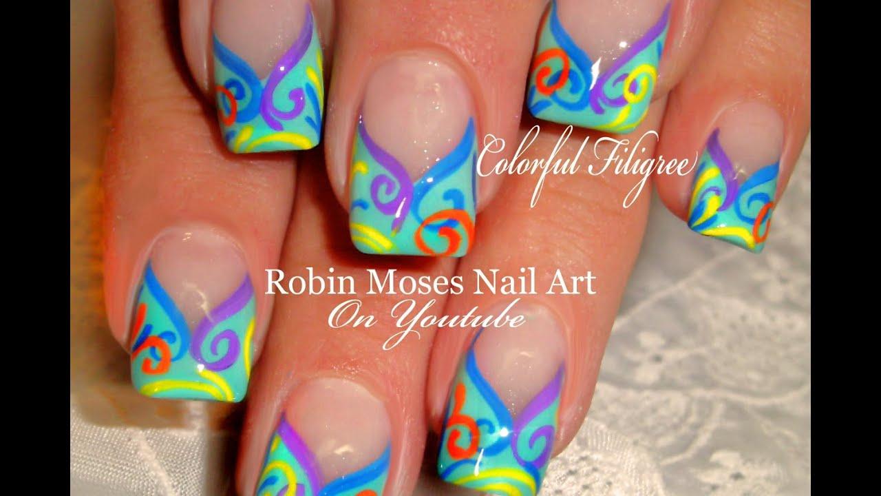 Nail Art Easy Diy Spring Nails Design Tutorial Youtube