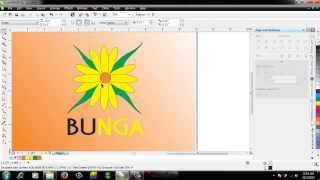 Membuat Gambar Bunga dengan Corel Draw X6