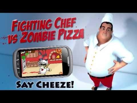Fighting Chef vs Zombie pizza