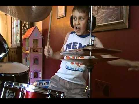 "Anthony plays ""Swing Swing by the All American Rejects at 7 years old.  He first became interested in this song by playing Lego Rock Band.  He only played this song once before on the drums."