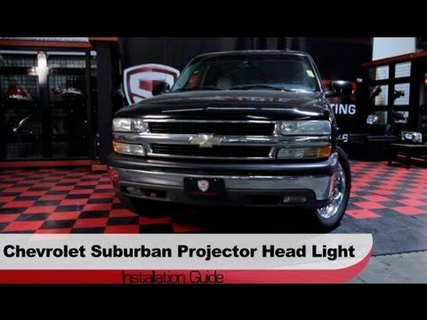 spyder auto installation 2000 06 chevrolet suburban tahoe projector headlights youtube spyder auto installation 2000 06 chevrolet suburban tahoe projector headlights