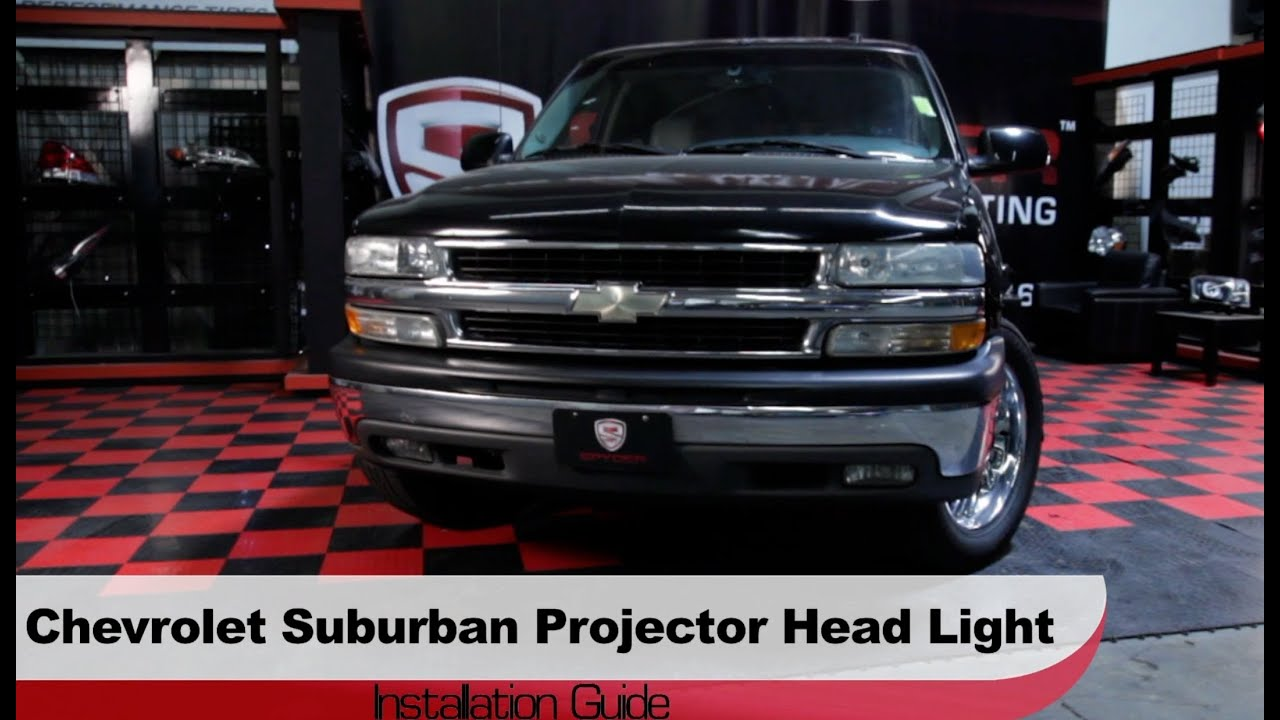 Spyder auto installation 2000 06 chevrolet suburban tahoe projector headlights youtube