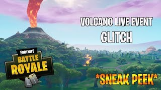 NEUE VOLCANO LIVE EVENT *SNEAK PEEK GLITCH* FORTNITE - CREATIVE MODE