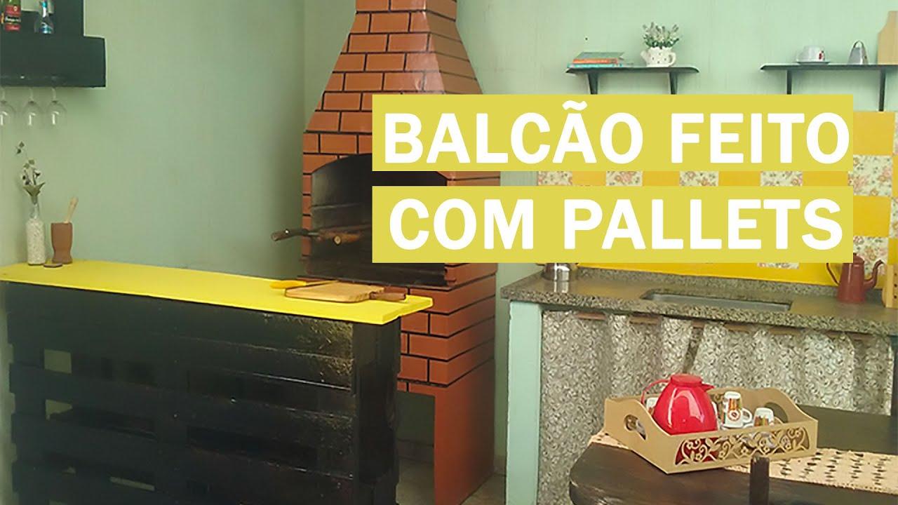 COMO FAZER BALCÃO DE PALLETS Móveis de Pallets #1   #AEA01D 1920x1080