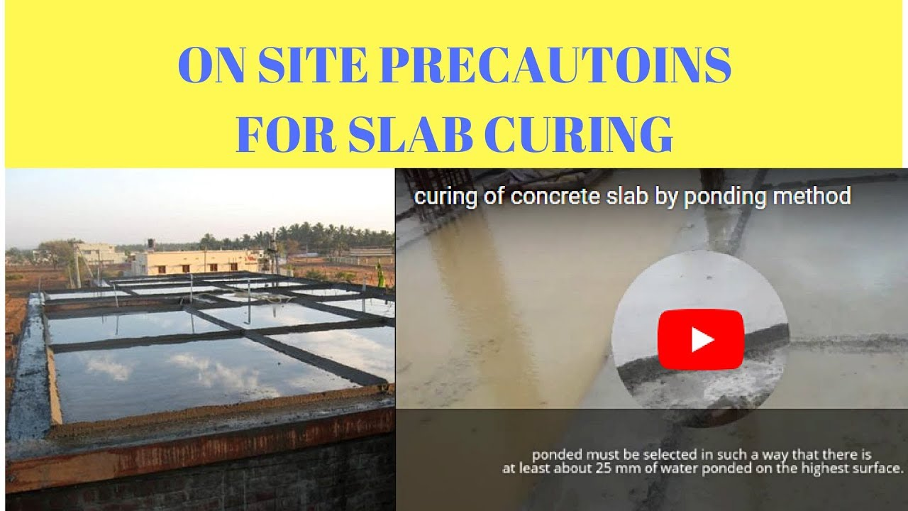 curing of concrete slab by ponding method