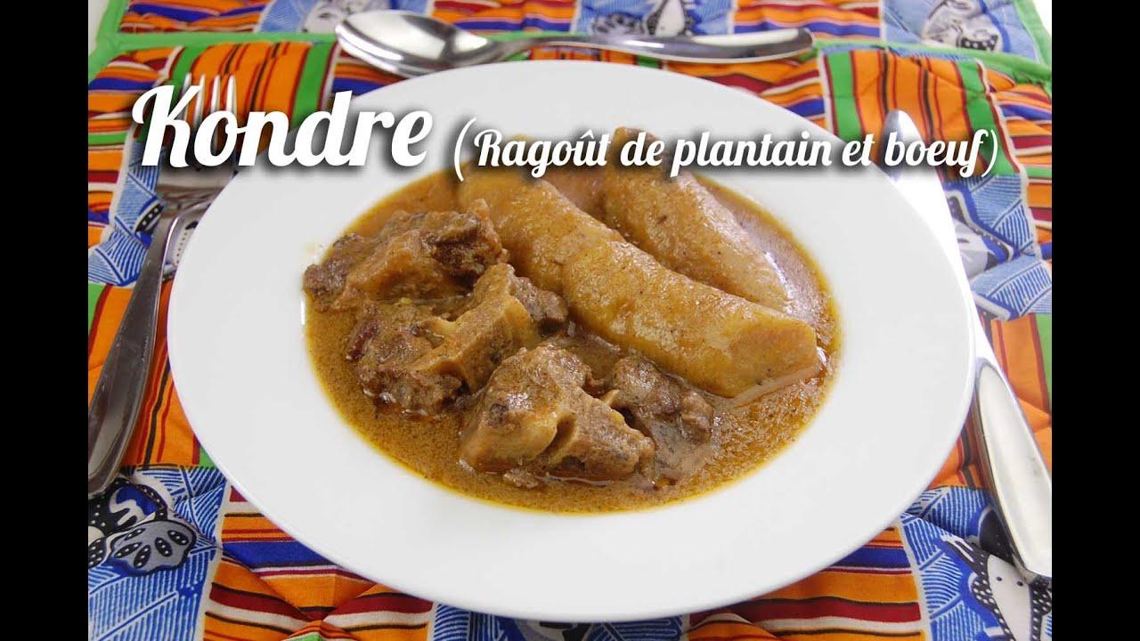 Kondre la queue de boeuf rago t de boeuf aux plantains - Comment cuisiner les crevettes congelees ...