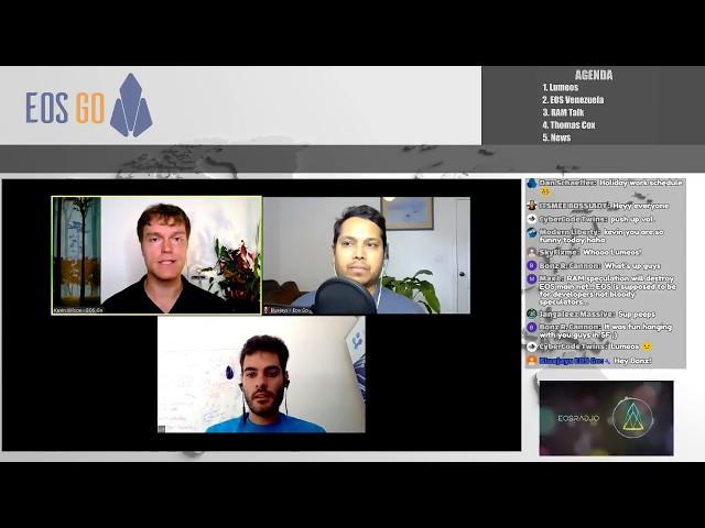 EOSRad.io 18 - Lumeos.io, EOS Venezuela, RAM Discussion Panel & Thomas Cox