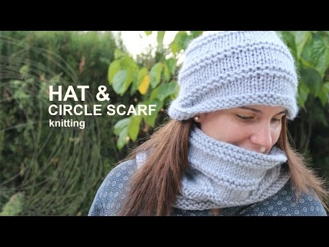 Tutorial Hat Circle Scarf Knitting In English Youtube