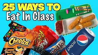 25 Smart Ways To Sneak Food and Candy Into Class Using School Supplies - NEVER FAILS | Nextraker
