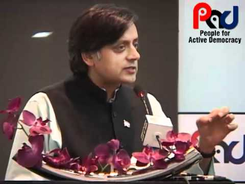 PAD Talk by Shashi Tharoor on Efficacy of the parliamentary system of governance