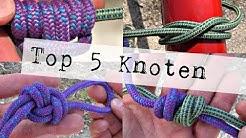 Top 5 Survival Knoten! Ich zeige dir die besten Knoten für jeden Einsatz (4K)