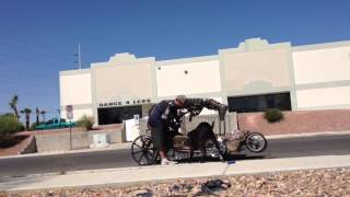 Homeless With Tricked Out Dog Vehicle