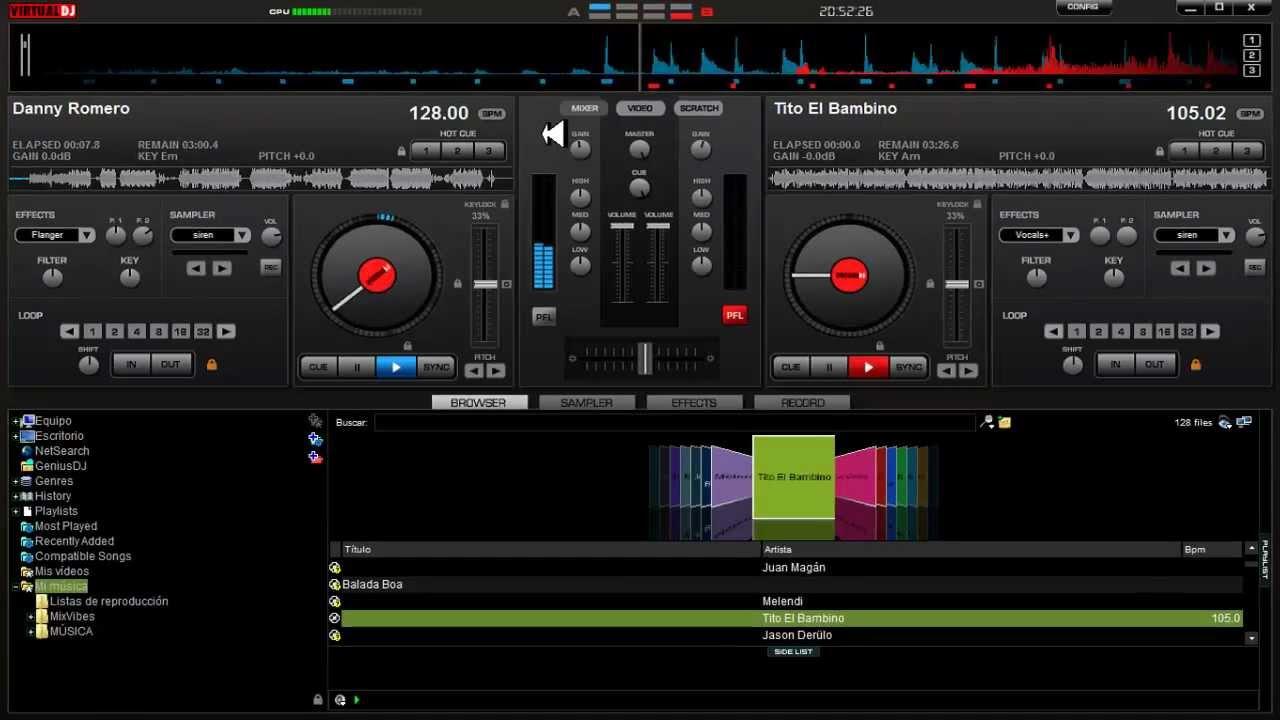 Configurar mapear hercules dj control instinct con virtual for Mesa de mezclas virtual