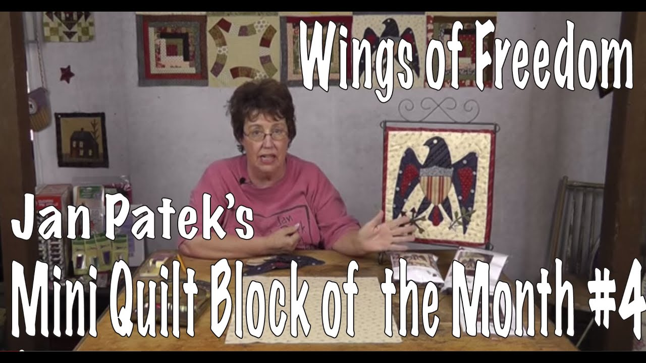 Wings Of Freedom Block Four Of Jan Patek S Applique Calendar Quilt Block Of The Month