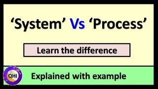 'System' VS 'Process' – Differences explained with example