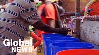 Residents of Goma in DR Congo react to the first case of Ebola