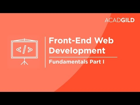 Front End Web Development for Beginners Part 1 - Fundamentals