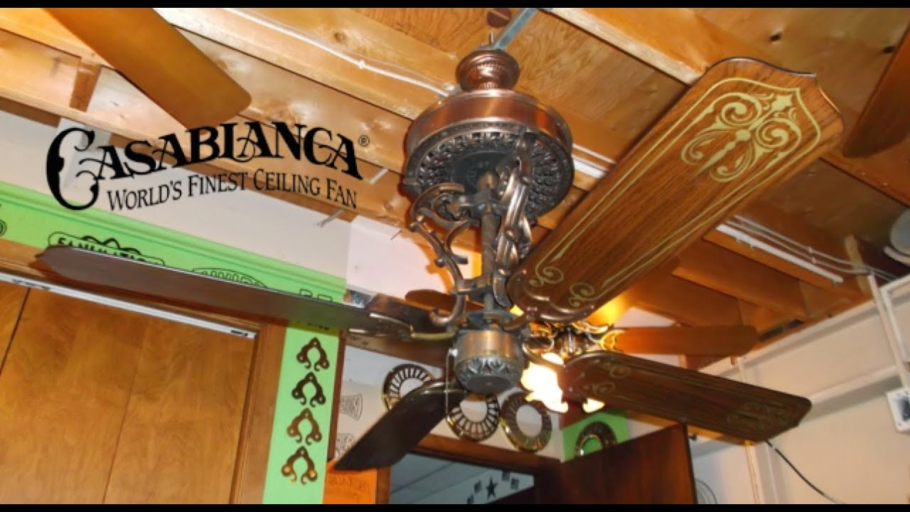 casablanca new orleans ceiling fan youtube