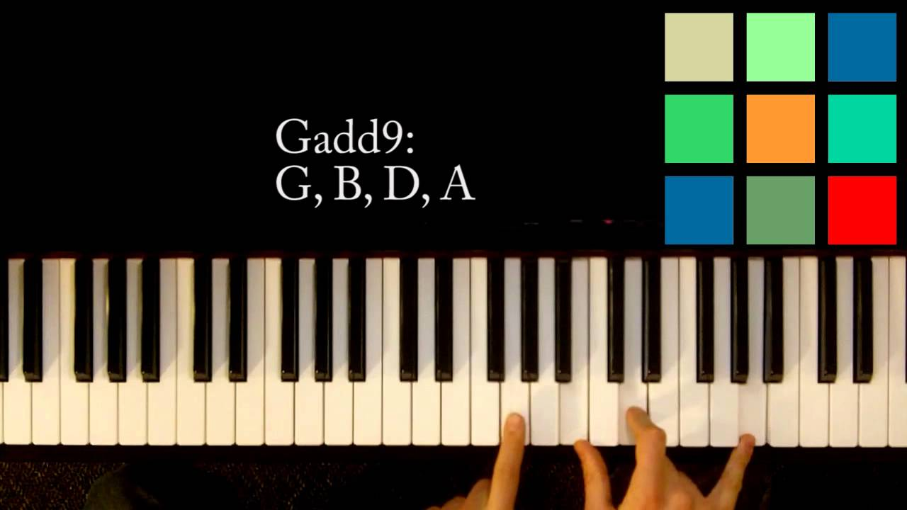 How To Play A Gadd9 Chord On The Piano Youtube