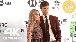 Ansel Elgort, Suki Waterhouse, Violetta Komyshan red carpet arrivals, photocall at Jonathan premiere