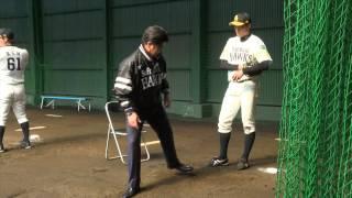 ソフトバンクホークス 秋季キャンプを工藤公康監督が視察 20141113