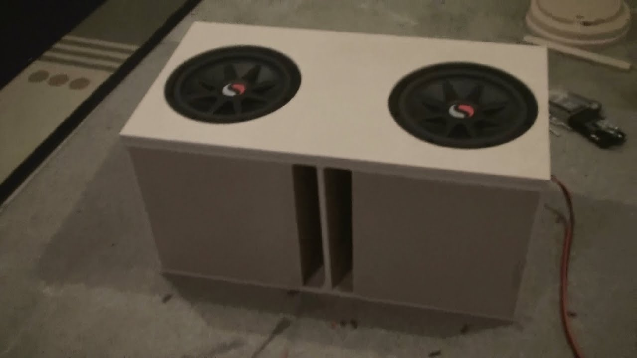 Ported Box Build Pt 3 For 2 Kicker Solo Classic 12 Quot Subs