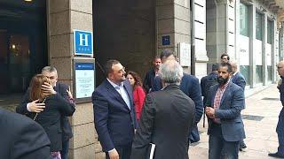 Pedro Sánchez llega a Oviedo