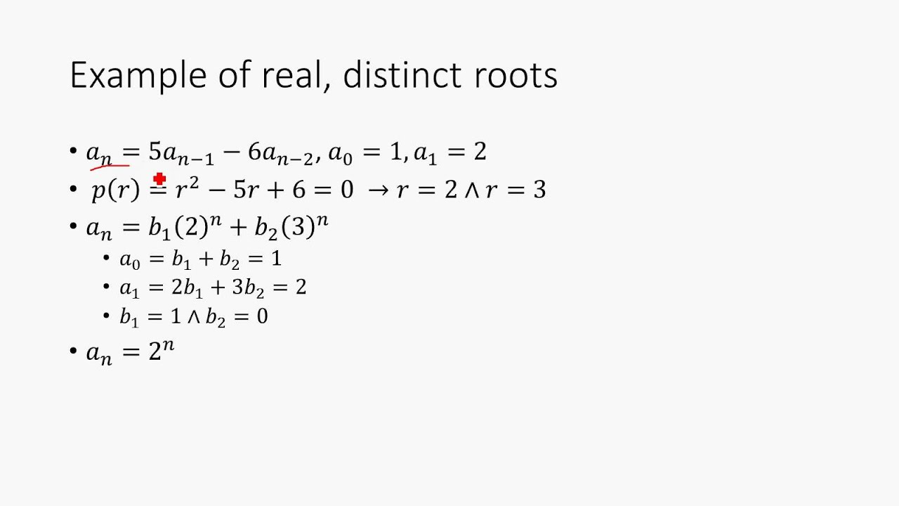 Recurrence Relations Discrete Math Structures 11 Youtube