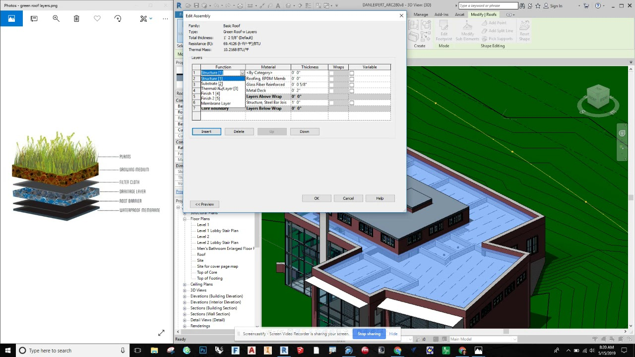 Revit - How To Make A Green Roof With A Parapet Wall! - YouTube