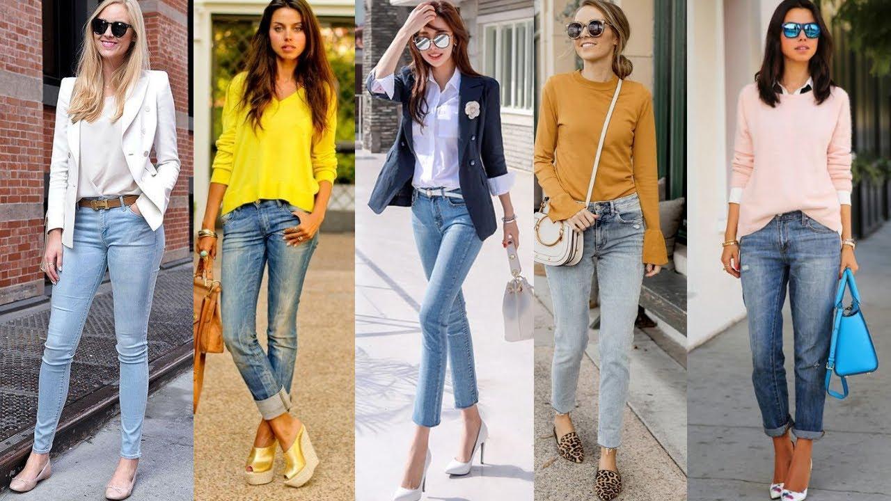 Como Vestir Elegante Fina Y Sofisticada Con Jeans Looks Y Outfits Con Jeans Elegantes Youtube