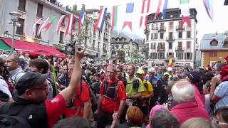 Start of Northface Ultra Mont Blanc race
