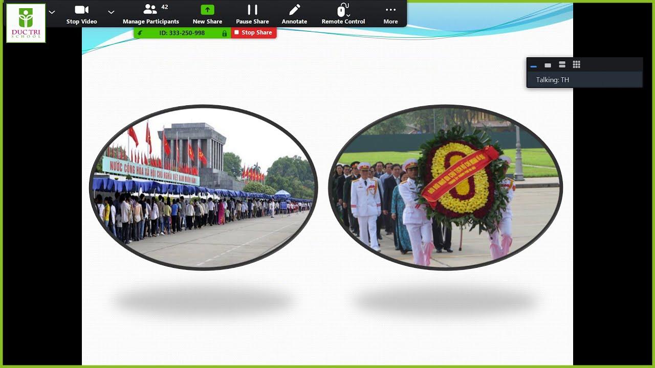 """Bài giảng trực tuyến môn Văn – LỚP 9 Bài: """"VIẾNG LĂNG BÁC"""""""