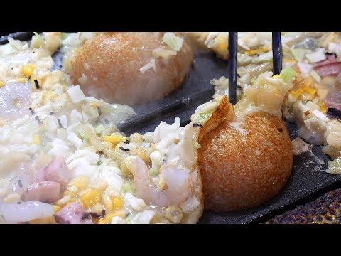 대한민국 1호! 대왕 타코야끼 (king takoyaki, たこやき, 章鱼小丸子 3,500KRW) / korean street food / 부산 부평 깡통시장 / 타오몬야끼