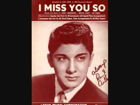 Paul Anka - I Miss You So (1959)