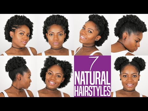 7 NATURAL HAIRSTYLES (For Short to Medium Length Natural Hai