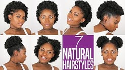 7 NATURAL HAIRSTYLES (For Short to Medium Length Natural Hair) (4B/4C Hair)