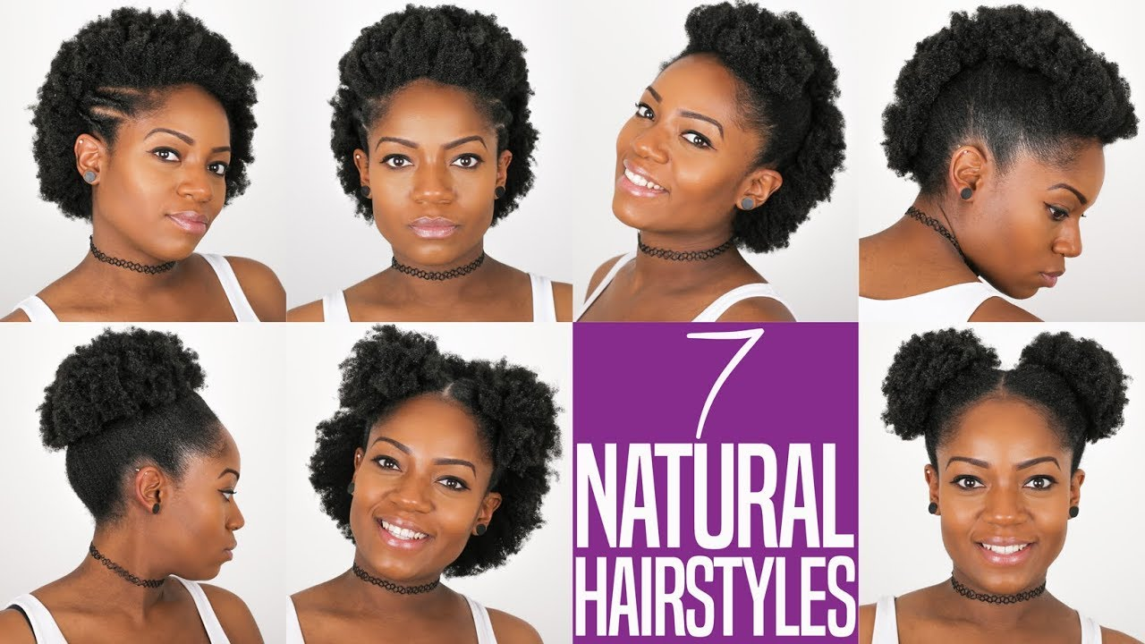 Style Natural Hair: 7 NATURAL HAIRSTYLES (For Short To Medium Length Natural