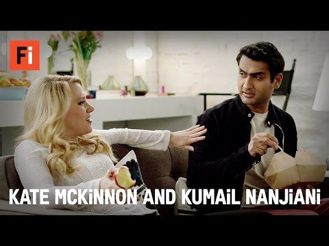 Kumail Nanjiani & Kate McKinnon in assless pants | 2016 Film Independent Spirit Awards | Feb 27