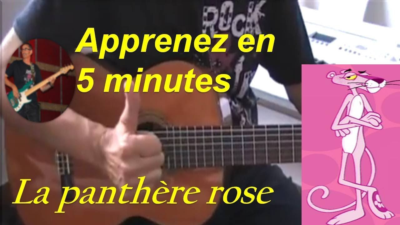 La panthere rose tuto guitare facile partition tab - Rosier panthere rose ...