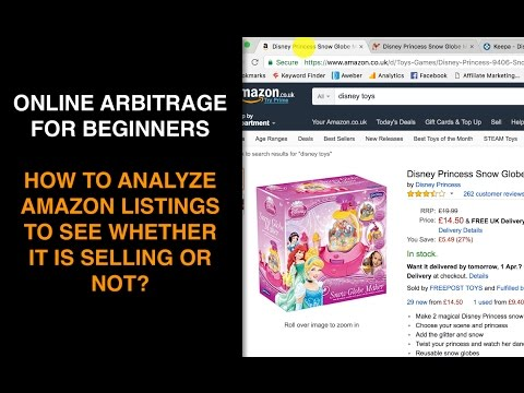 Online Arbitrage For Beginners: Analyzing Amazon Listings - Is It Selling Or Not? (Part 3)