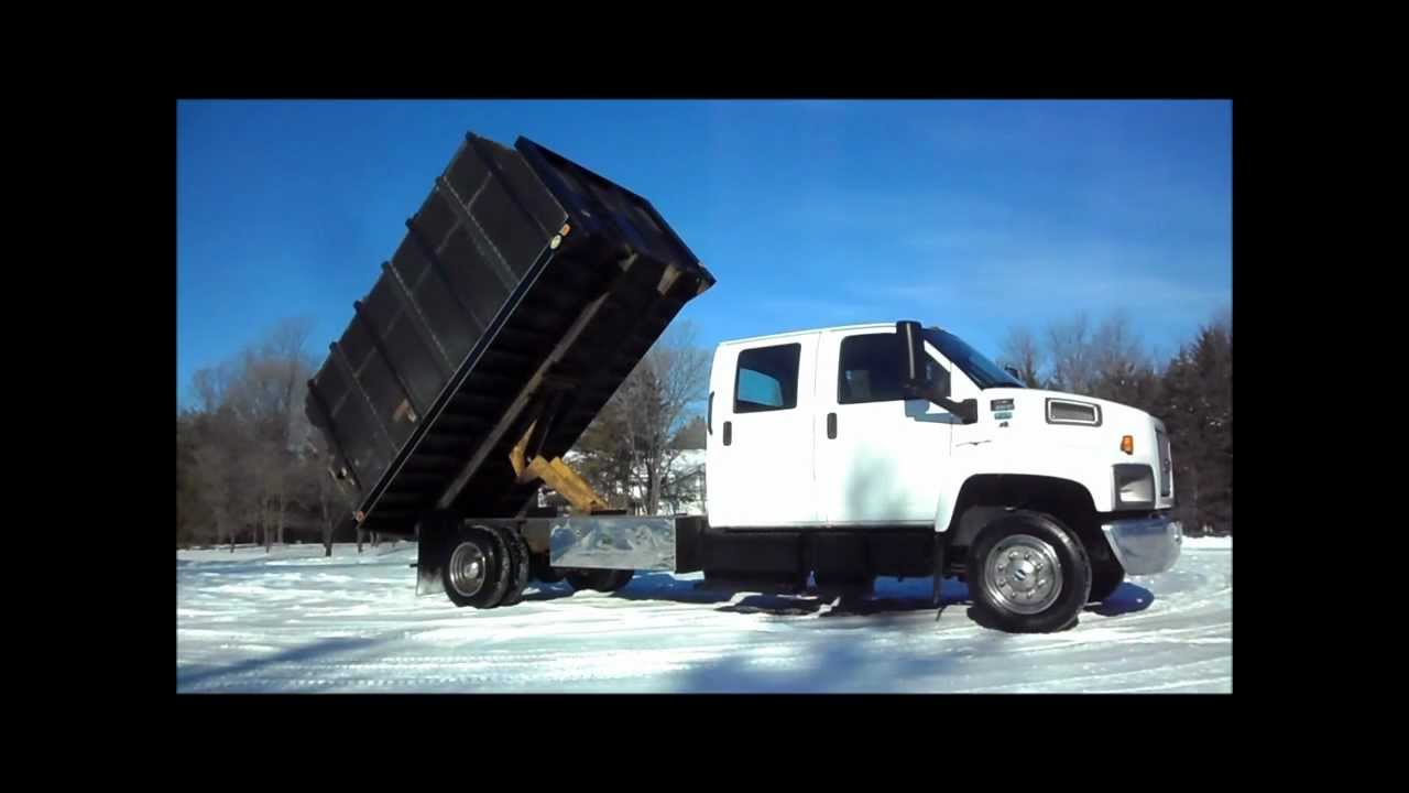 Chevrolet C6500 Crew Cab With Hydralic Dumping Chipper Body For Sale Gmc Topkick C5500 4x4 By Carco Truck