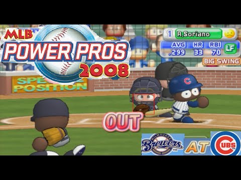 MLB Power Pros 2008 Gameplay Cubs vs. Brewers (PS2)