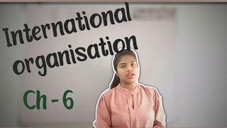 chapter - 6 International organisation