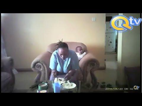 Yaya hayawani anaswa na kamera akimnyanyasa mtoto wa mwajiri wake